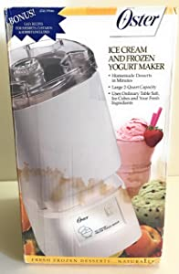Oster Ice Cream/Frozen Yogurt Maker