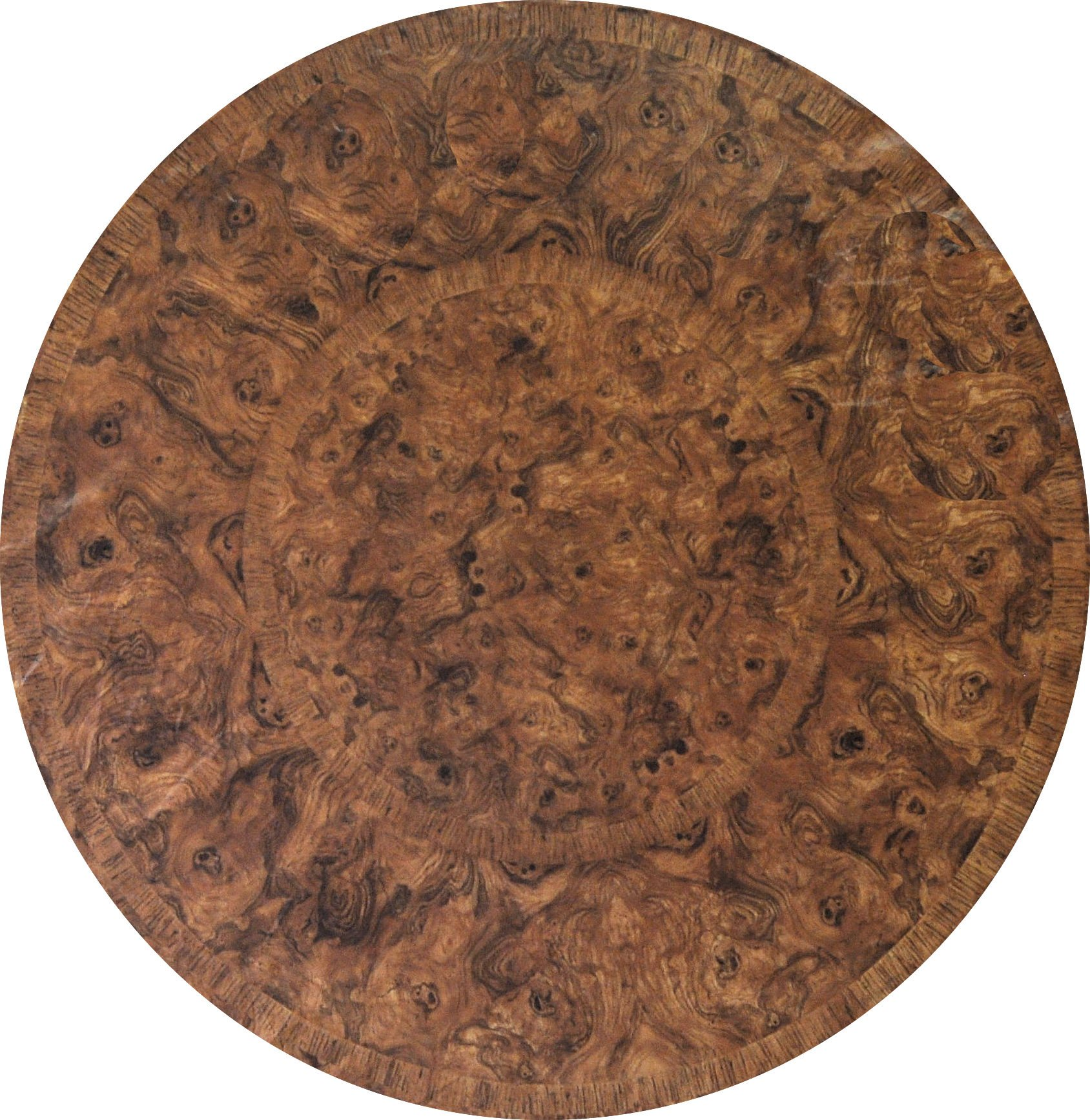 Fitted Round Tablecloth - Fits 44 to 48 inch Tables (Brown Maple)