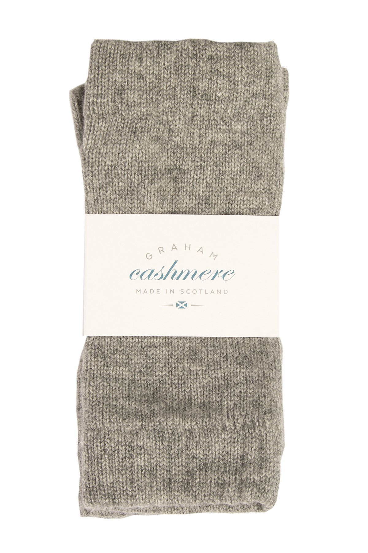 Graham Cashmere Women's Pure Scottish Cashmere Wristwarmers One size Gray
