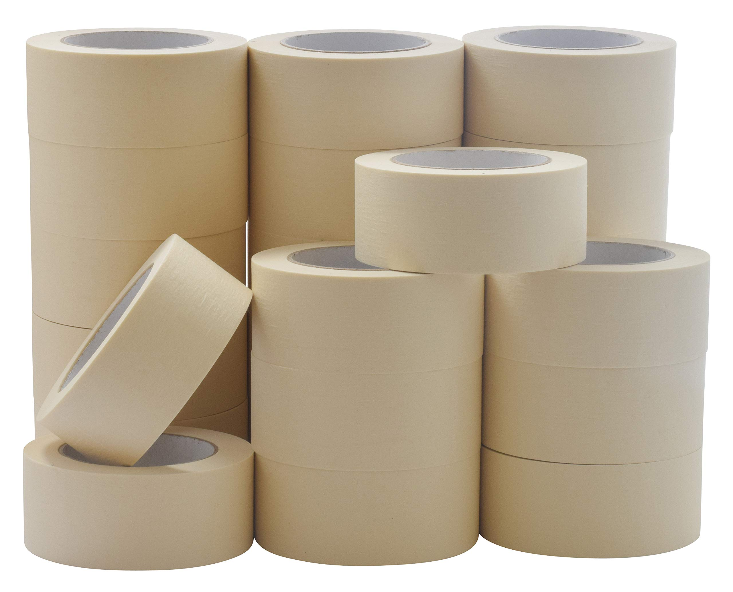 JAK Industrial Masking Tape for General Purpose / Painting - CASE of 24 - 2'' x 60 yards per roll. (48mm x 55m) by JAK Industrial