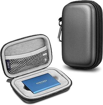 Fintie Funda Portátil para Disco Duro Externo Samsung T5 / T3 SSD ...