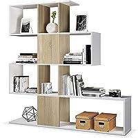 Habitdesign Estantería Librería, Salón, Comedor o Despacho, Modelo Zig-Zag,…