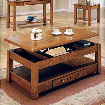Peachy Amazon Com Lift Top Coffee Table Oak With Storage Drawers Pabps2019 Chair Design Images Pabps2019Com