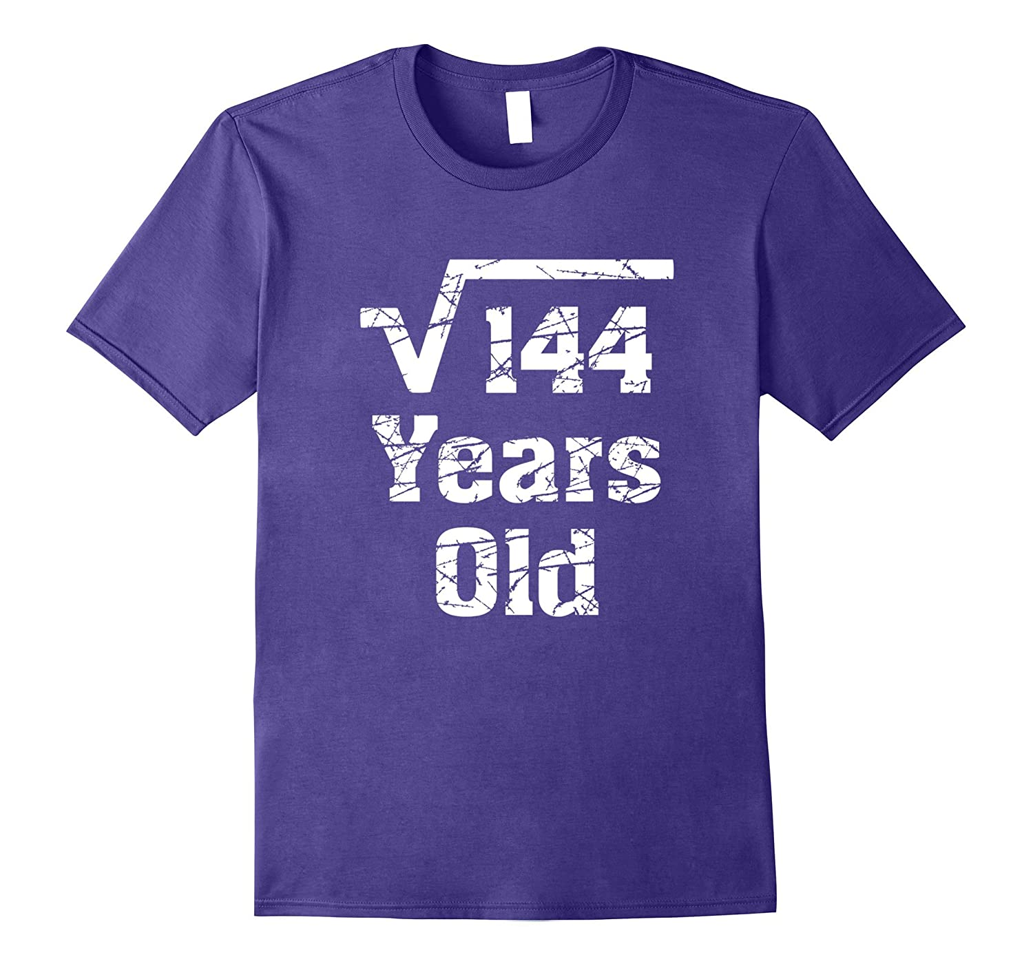 12th Birthday Gift Idea Square Root of 144 Years Old T-Shirt-PL