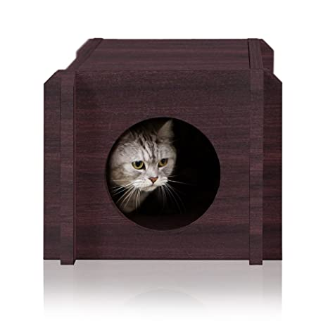 Way Basics PET-HOUSE-EO Espresso Way Basics - Casa para gatos