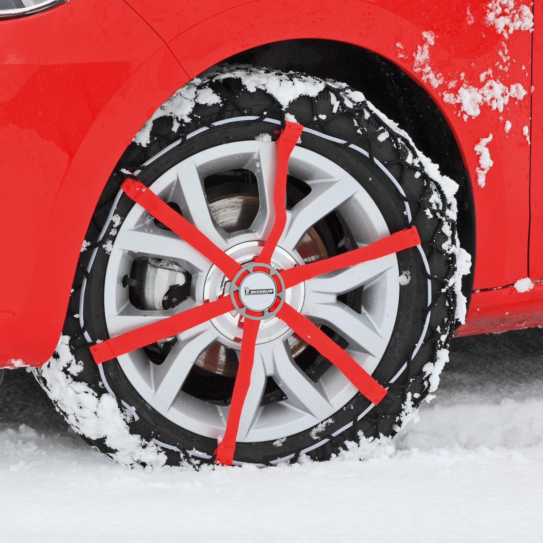 Michelin 92340 Cadenas de nieve de tela para coche (compatible con ABS y ESP, certificado TÜV/GS y ÖNORM), Easy Grip K15, 2 piezas: Amazon.es: Coche y moto