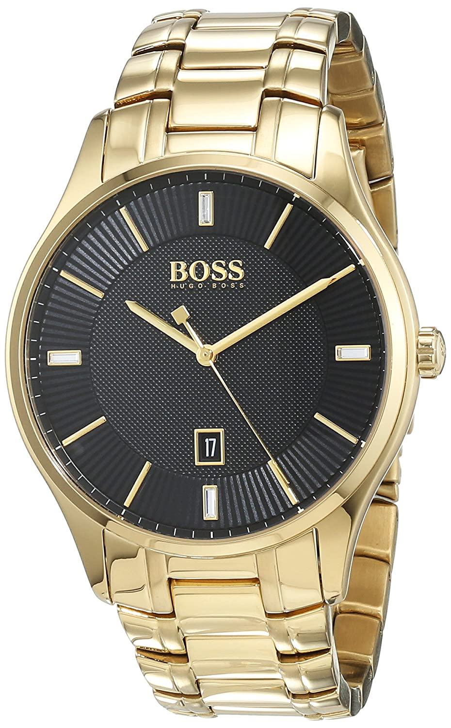 Amazon.com: Hugo Boss Govenor Casual Sport Gold-Tone Steel Watch: Watches