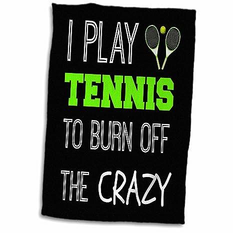 Amazon.com: 3d Rose I jugar al tenis para quemar Off The ...