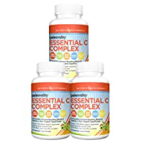 Paleovalley: Essential C Complex - Vitamin C Food Supplement with Organic Superfoods for Immune Support - 3 Pack - 450 mg per Serving - No Synthetic Ascorbic Acid - No GMO, Fillers or Gluten