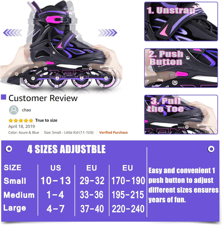 2pm Sports Adjustable Light up Kid Inline Skates - 1
