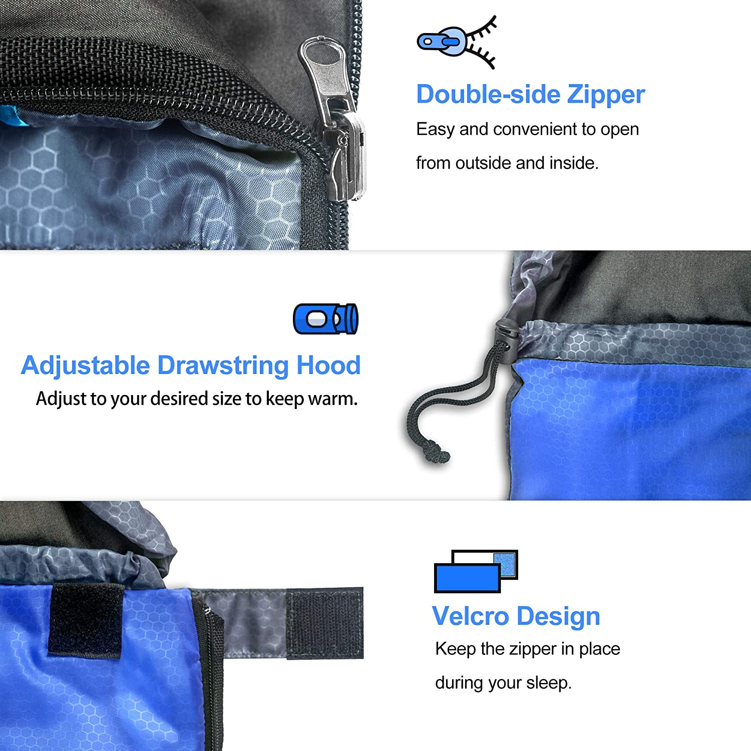 Kids Teens Adults Couples Waterproof Lightweight for Indoor /& Outdoor 5-85℉ 4 Seasons Warm and Comforable Camping Gear Equipment for Hiking Traveling Backpacking arteesol Sleeping Bag