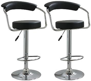 amerihome bs1060bset adjustable height bar stool set of 2 - Amazon Bar Stools
