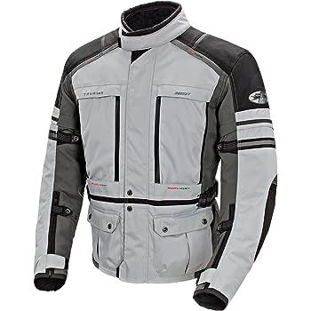 Joe Rocket Ballistic Adventure Mens Textile Touring Motorcycle Jacket (Silver/Gunmetal, XX-Large)
