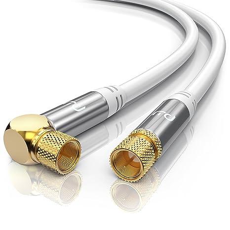 Sat Koax kabel Digital TV 135dB 2x 90° F-Stecker Antennenkabel Routerkabel HD
