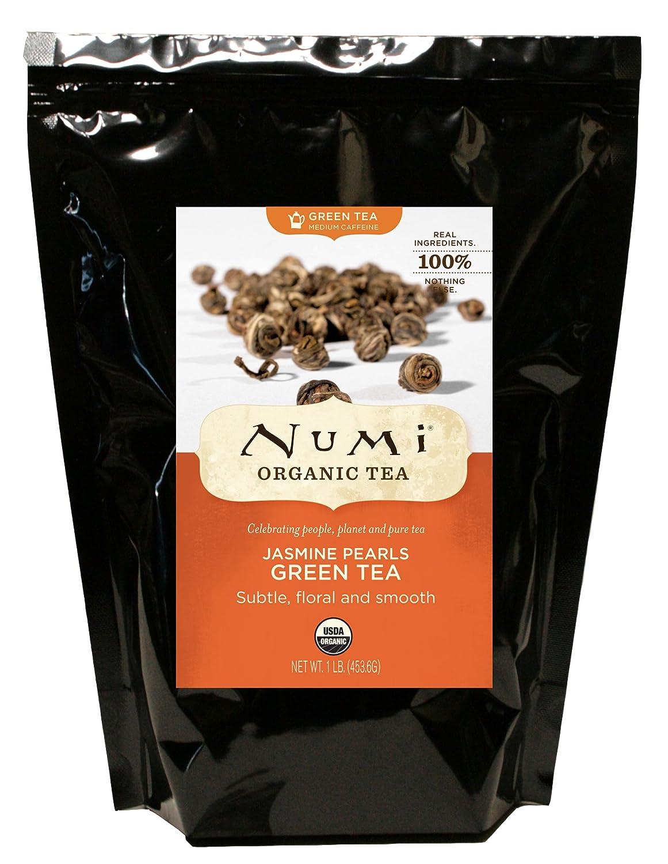 Bulk organic tea - Amazon Com Numi Organic Tea Jasmine Pearls Green Tea Loose Flowering Tea Buds 16 Ounce Bulk Pouch Green Teas Grocery Gourmet Food
