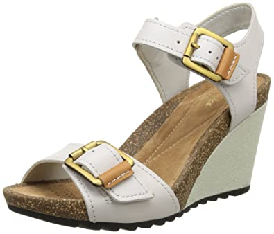 edbfcc9d310 Clarks Women s Overly Sparkle Wedding Wedge Sandals Grey Size  3 ...