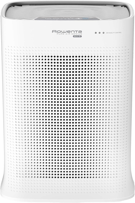 Rowenta Pure Air PU3040 - Purificador, filtración alérgenos y partículas finas, 120 m², modo automático día y noche, temporizador, apagado automático, encendido programable, indicador cambio filtro
