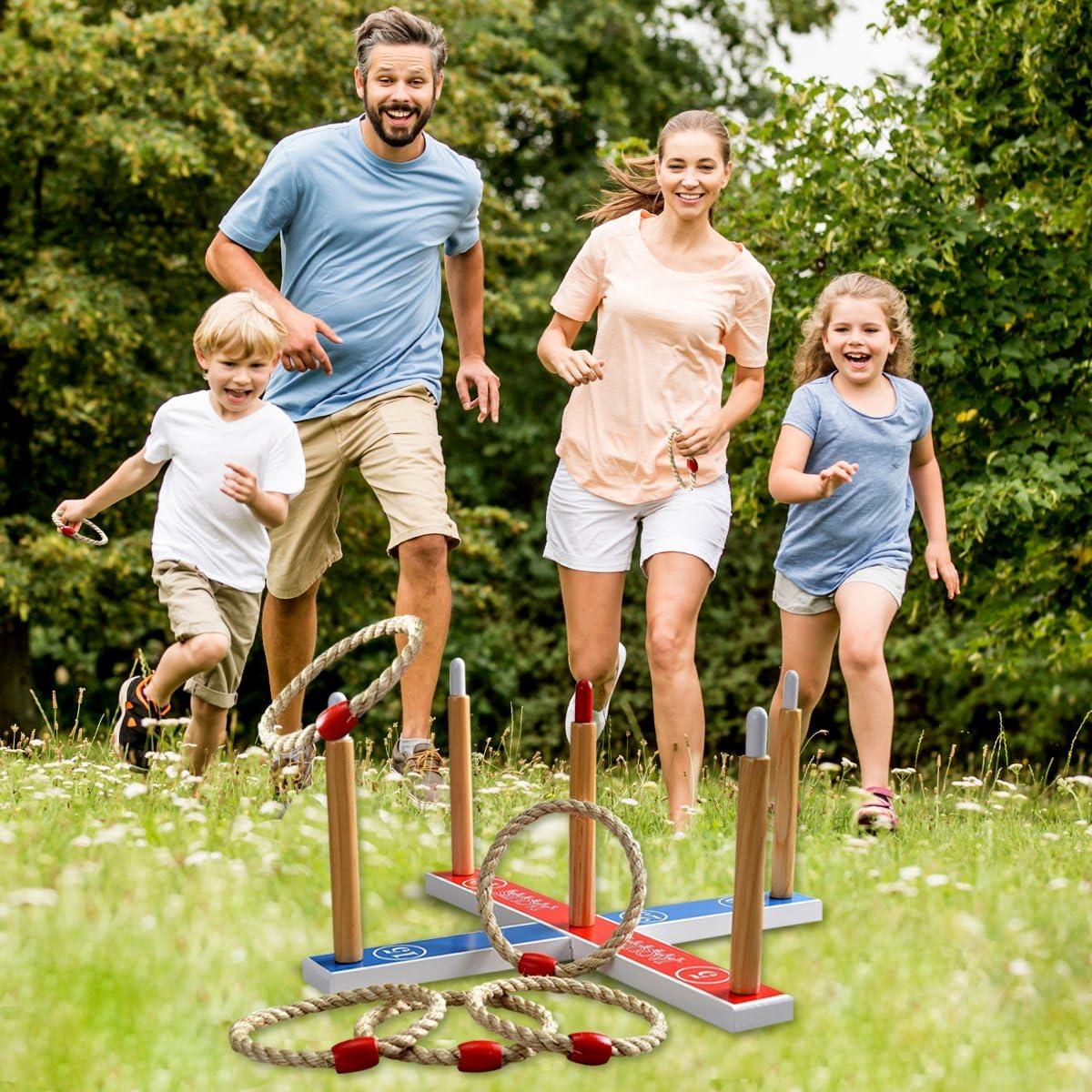 Kinder Outdoor Family Garden quoits gesetzt Outdoor