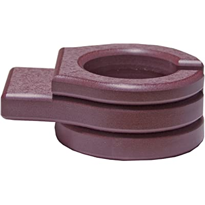 LuxCraft Poly Outdoor Stationary Cup Holder for Gliders, Benches, Deck Chairs (Earthtone - Cherrywood): Kitchen & Dining
