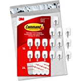 Command Small Wire Hooks, 16 Piece, 24 Strips (GP067-16NA) - Easy to Open Packaging