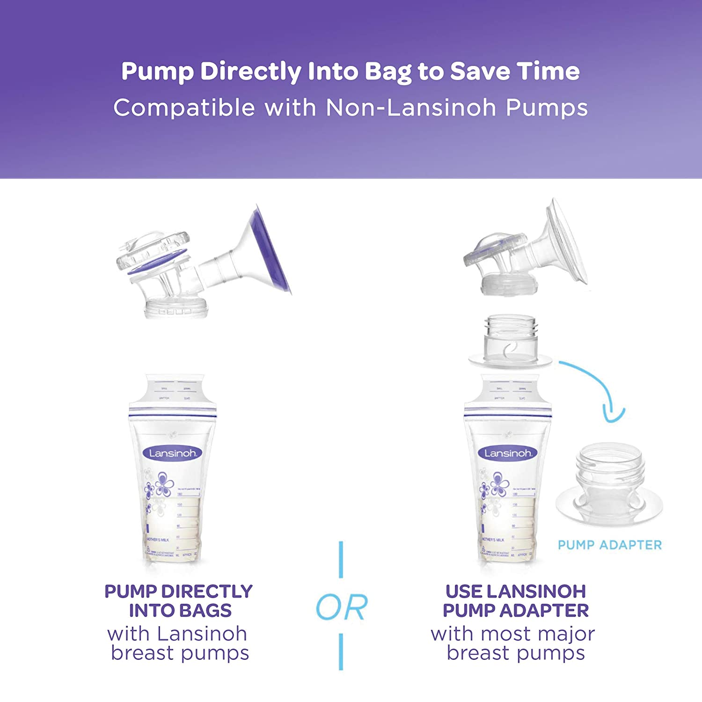 Lansinoh Breastmilk Storage Bags, 50 count