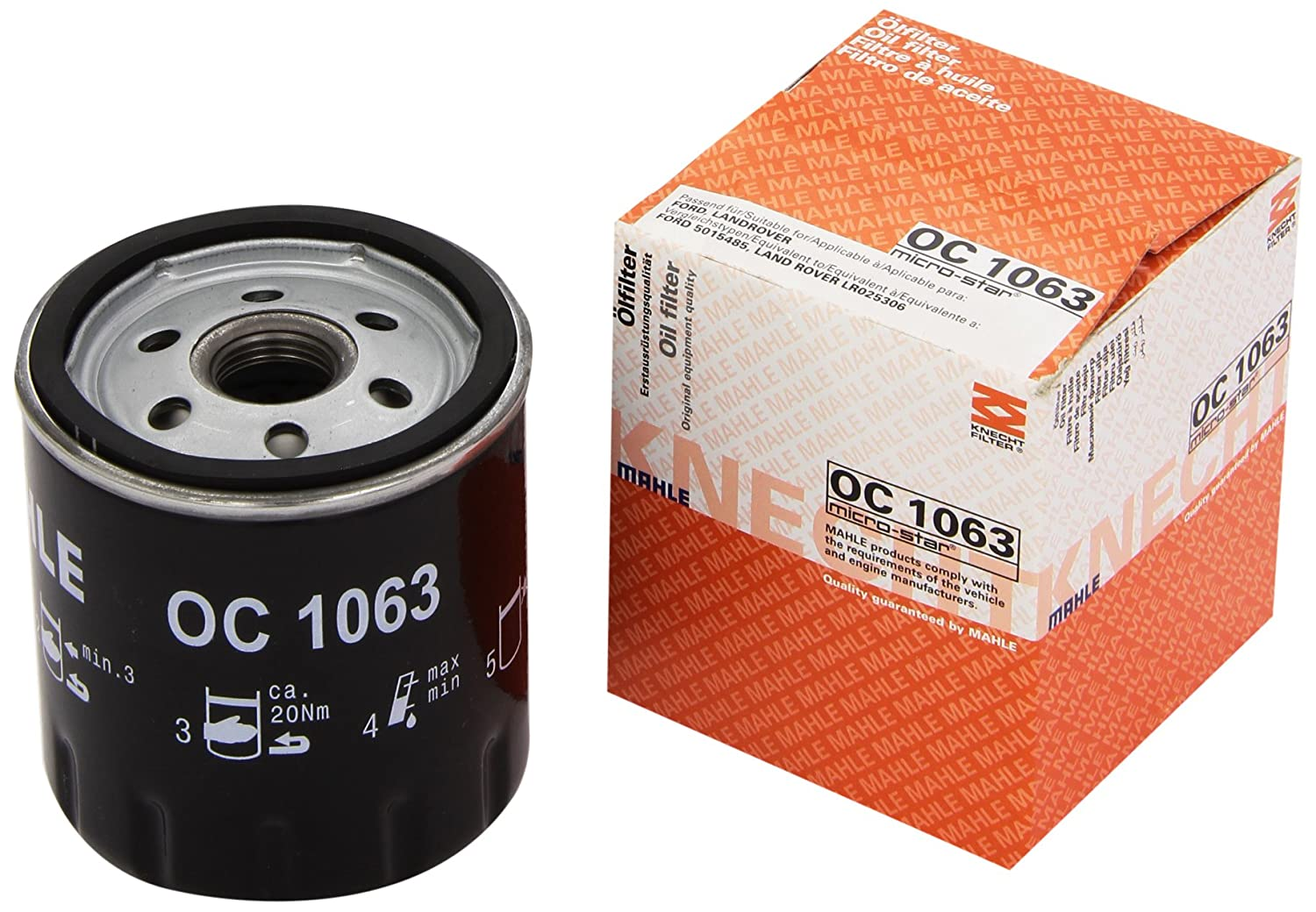 Knecht OC 1063 Filtro Motore Mahle Aftermarket GmbH