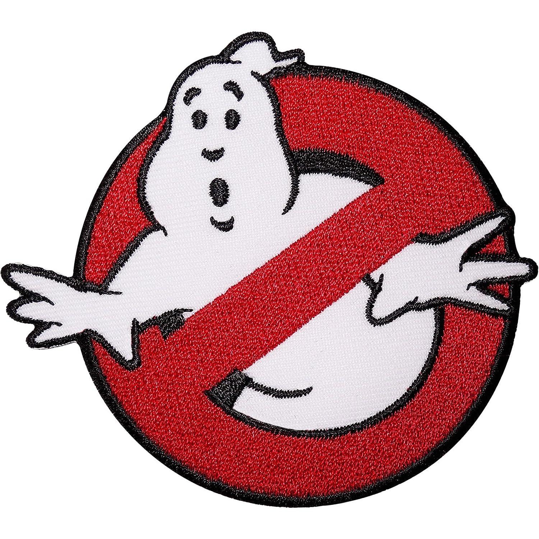 Toppa ricamata con simbolo dei Ghostbusters, termoadesiva o ricamabile, per costumi, magliette, borse Emporium Embroidery