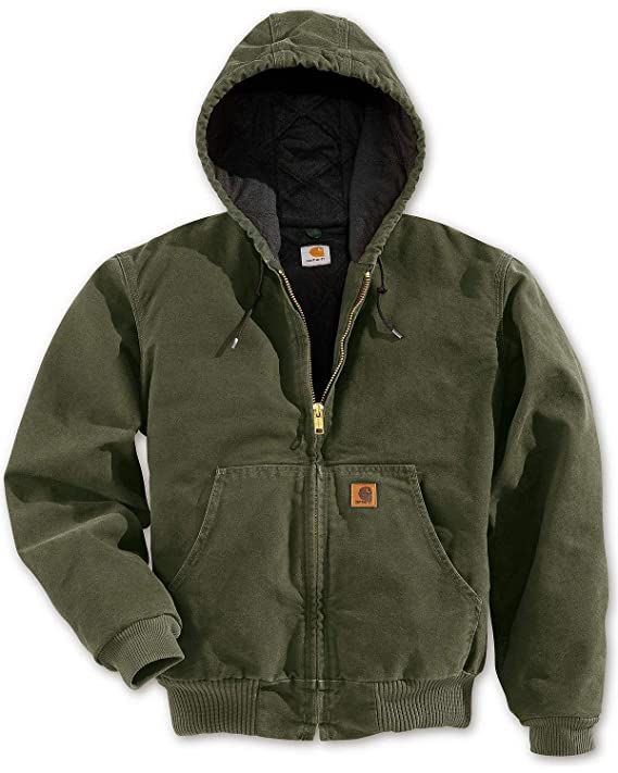 Carhartt Men's Sandstone Active Jacket,Army Green,Small best gifts for hunters