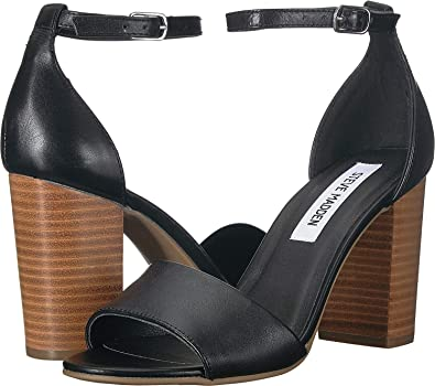 15e11ab7a1a Steve Madden Women s Kevlyn Black Leather 7.5 M US