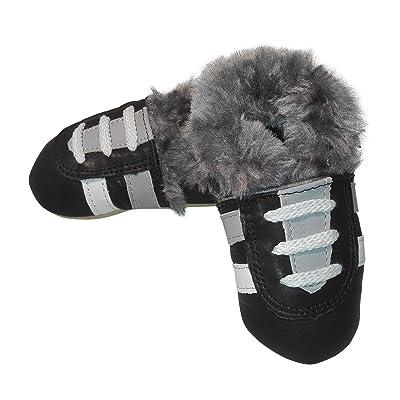 - Doublure lederhausschuhe jinwood tURNSCHUH-noir-baby-chaussures en cuir