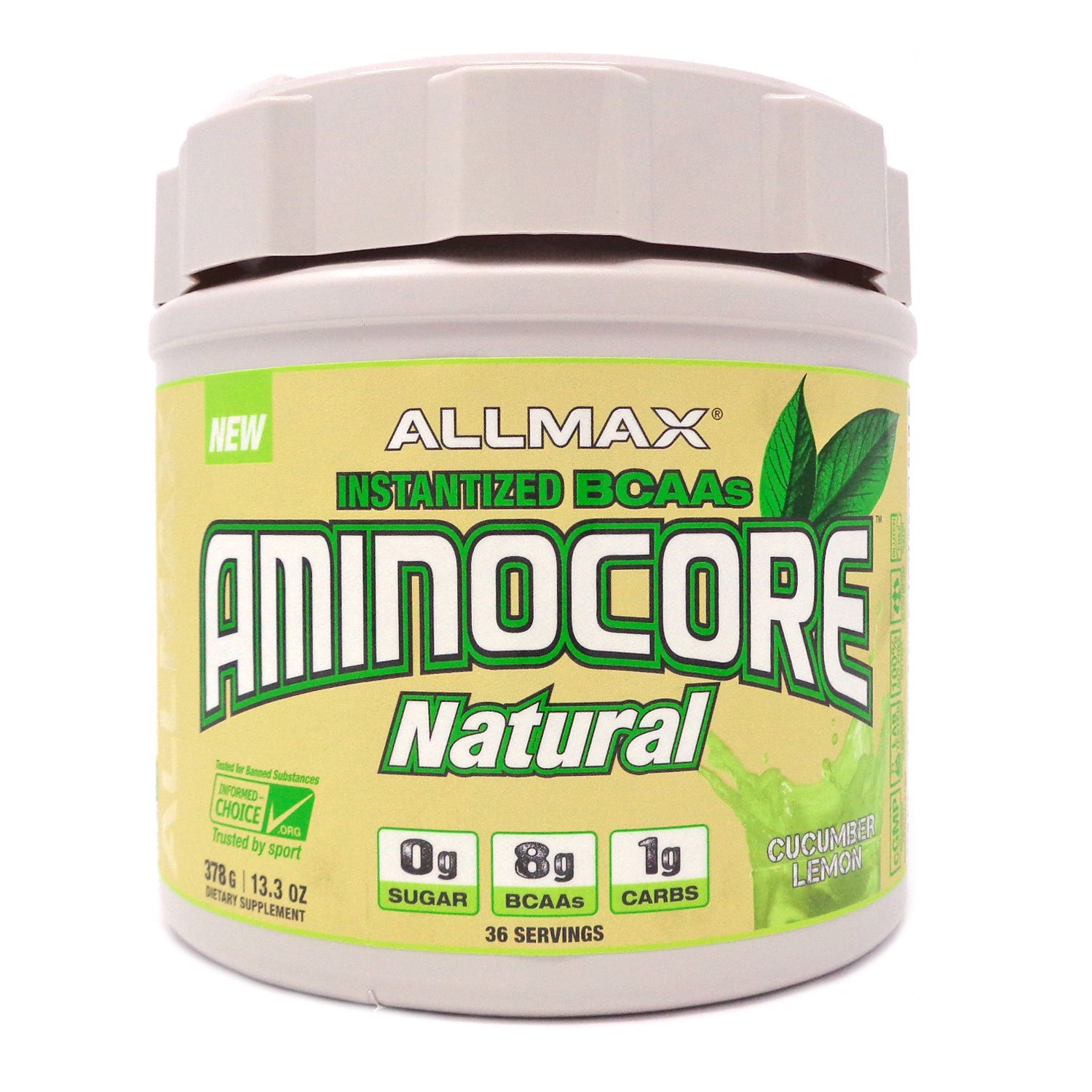 ALLMAX Nutrition Aminocore Natural Instantized BCAAs Cucumber Melon 13 3 oz 378 g