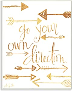 Stupell Industries Go Your Own Direction Arrows Wall Plaque Art, 10 x 0.5 x 15, Multi-Color