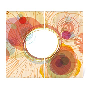 Banjado Herdabdeckplatte Aus Glas Herdabdeckung Zweiteilig Je