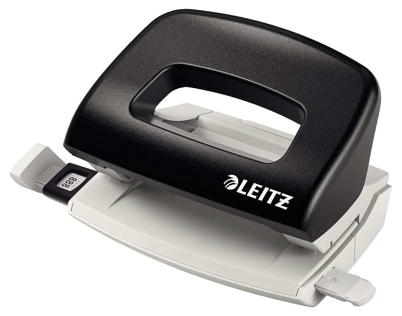 Leitz Perforatore Metal Rim, 10 fogli, Guida di arresto con sistema di fissaggio, Metallo e plastica, Blu, Mod. 5058, 50580035