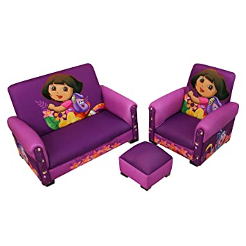 Amazon Com Nickelodeon Dora Hiking Deluxe Toddler Sofa Chair And