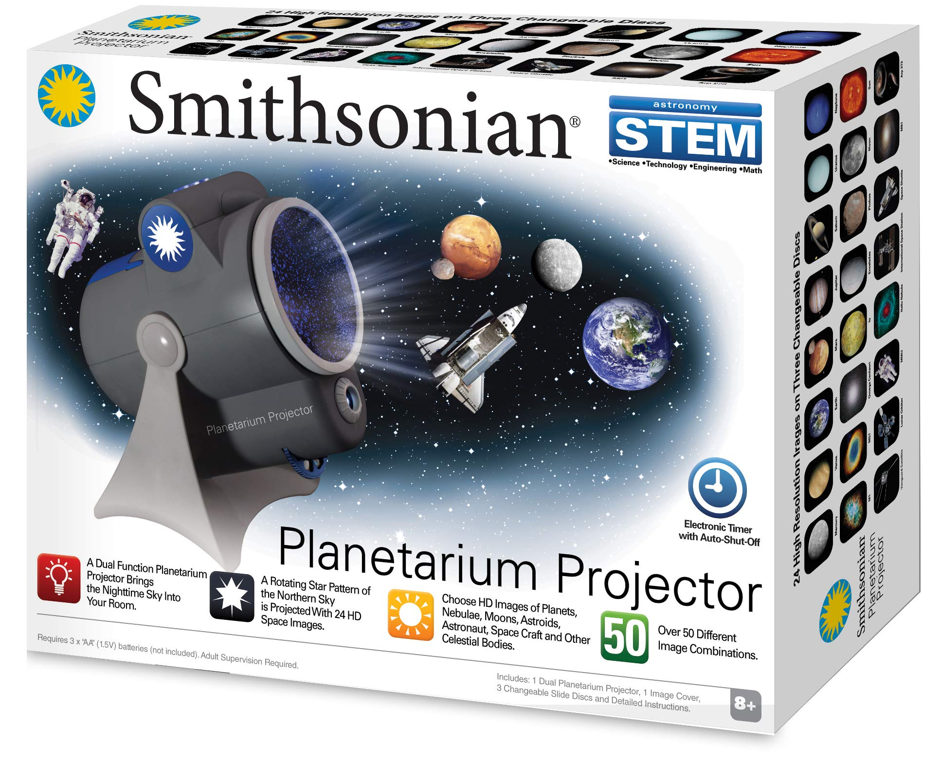 Smithsonian Optics Room Planetarium and Dual Projector Science Kit, Black/Blue by Smithsonian