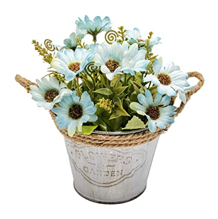 Image Unavailable. Image not available for. Color OneHippo Artificial Flowers Potted ...  sc 1 st  Amazon.com & Amazon.com: OneHippo Artificial Flowers Potted Delicate Silk Hand ...