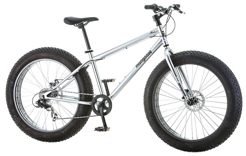 Com Mongoose Men S Malus Fat Tire Bike Silver Sports Outdoors