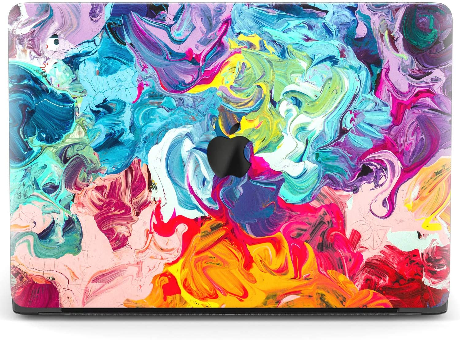 Mertak Hard Case for Apple MacBook Pro 16 Air 13 inch Mac 15 Retina 12 11 2020 2019 2018 2017 Colorful Pattern Art Cute Plastic Paint Woman Cover Protective Design Laptop Abstract Shell Strokes