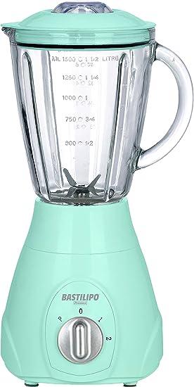 Bastilipo BV-550 Batidora de Vaso, 550 W, 1.5 litros, Plástico, 2 Velocidades, Verde Agua: Amazon.es: Hogar