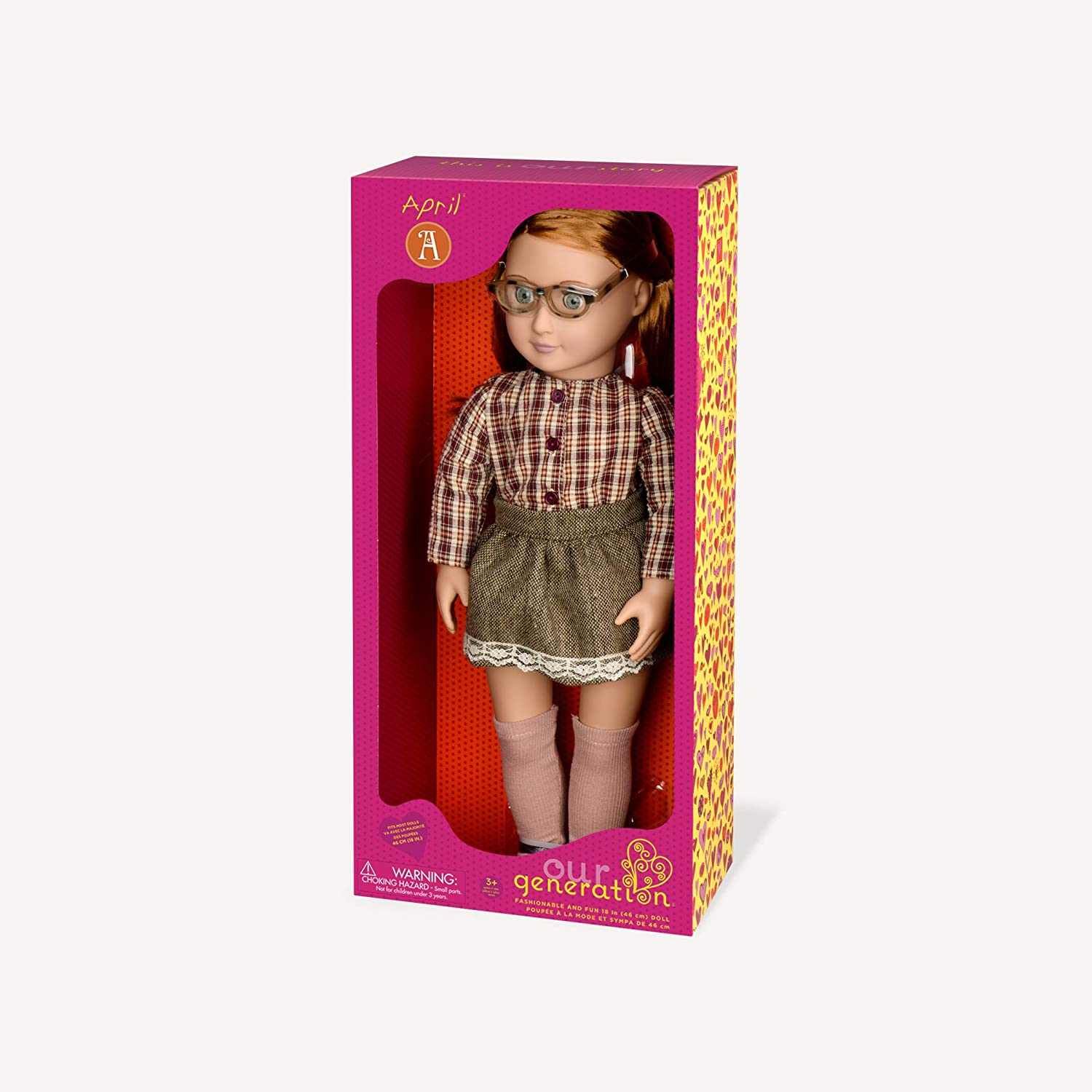 Our Generation Doll By Battat April 18 inch Regular Non-posable Fashion doll for ages 3 and up