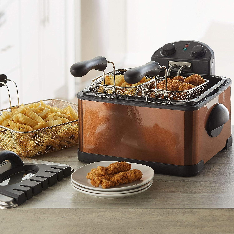 Brylanehome Triple Basket Deep Fryer - Copper