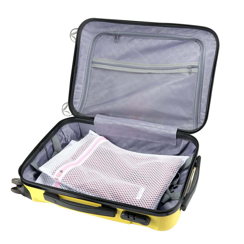 LASV Mesh Laundry Bag,4 Pack (2 Large & 2 Medium) Heavy Duty Durable Honeycomb Travel Bag for Delicates,Sweaters,Blouse,Yoga Pants,Hosiery,Underwear
