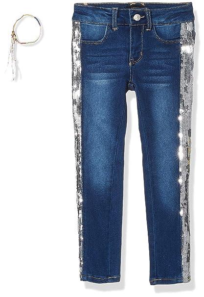Amazon.com: DKNY - Vaquero de lentejuelas para niña: Clothing