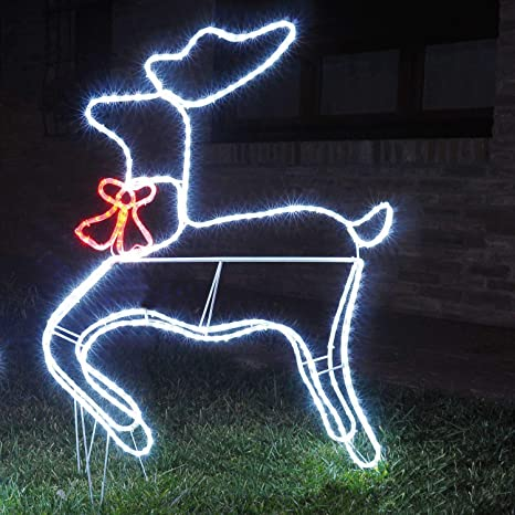 Immagini Luminose Natale.Renna Luminosa 3d 324 Led H120 Cm Renne Luminose Per