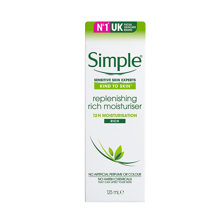 Simple Kind To Skin Replenishing Rich Moisturizer 125ml Groceries 5011451103948