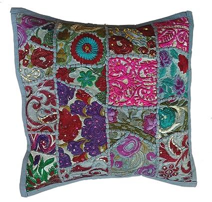 Rastogi artesanías hecha a mano Patchwork cojín almohada ...