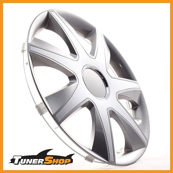14 pulgadas tapacubos TAPACUBOS tapacubos Toyota Llantas de Acero # 2433130 gris/plata Invierno Verano: Amazon.es: Coche y moto