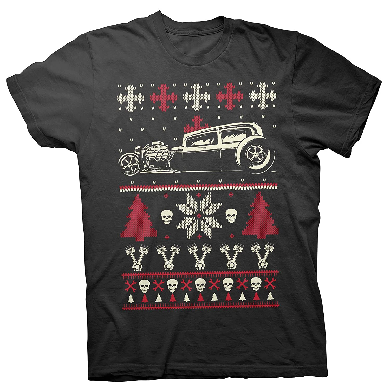 Gearhead CAR Hot Rod Ugly Christmas Sweater T Shirt
