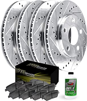 1994-1998 Ford Mustang Front + Rear Rotors w//Metallic Pad OE Brakes